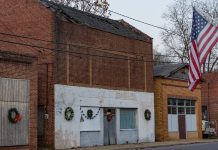 Old Movie Theater in West Blocton, Alabama.