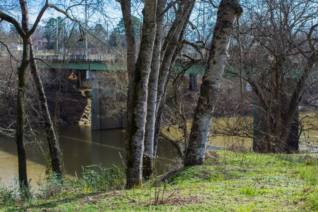 The Cahaba after the waters receded, on January 7.