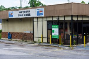The now vacant West Blocton Food Center building was the only grocer within town limits. Now it's for sale or lease.