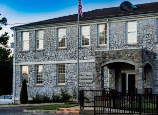 Bibb County Commission Rock Building